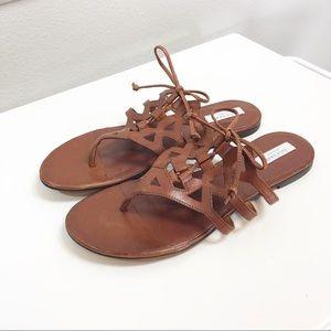 Cole Haan | 'Claudia' Cognac Bow Slide Sandal